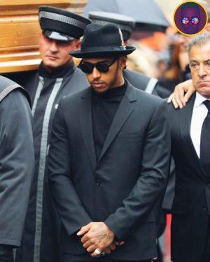 Lewis at Niki Lauda's Funeral 🏴 @lewishamilton #nikilauda . . . . . . . . #f1...