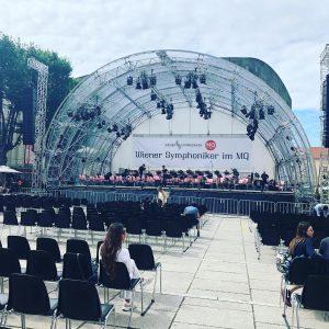 Heute im mq#wiener symphoniker#schönes wetter#kommt vorbei😍