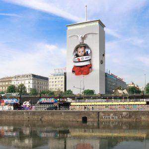 Future Dreaming opening June 26 in Vienna! @danykosto #dangerousplay #urbanart #summerview #danielakostova #ringturm ...
