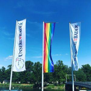 @europride2019 is in town! #eurovision2019 #viennapride Strandbad Gänsehäufel