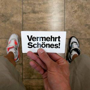 Vermehrt Schönes. This is the best advertising that I've seen in a long ...