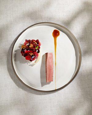 Venison with fennel, shiso, mint & cherries #inspiredbynature #heinzreitbauer #foodofaustria #lesgrandestablesdumonde #worlds50best #guidemichelin Steirereck im Stadtpark