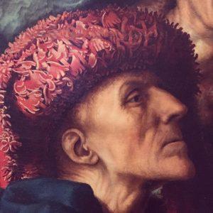 Van Hemessen's latter than life Saint Matthew from the Calling of Saint Matthew in Vienna, quite spectacular...