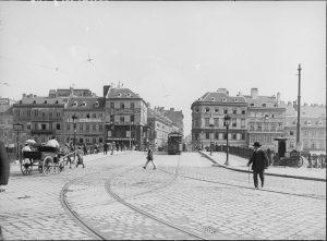 Die Ferdinandsbrücke überspannt den Donaukanal und wurde nach dem Ersten Weltkrieg in