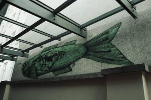 #street #streetart #fish #green #graphity #museumquartier #art #artphoto #photo #Vienna #wien #austria #window ...