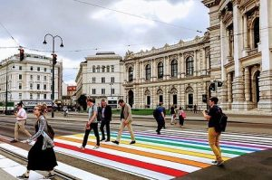 Symbols are not everything, but they are important. We're excited about #Vienna's very own rainbow-colored crossing, unveiled...