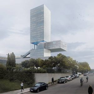 dream big. querkraft's ORF skyscraper proposal in hietzing back in 2014 . . . . #querkraft #querkraftarchitects...