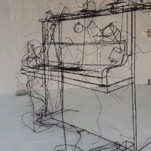 Wirkt wie eine Bleistiftskizze, ist aber 3D #art #vienna #mq