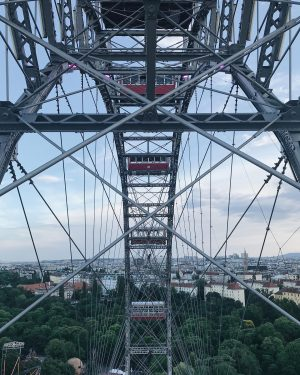 Fantastic views over Vienna from the Wiener Riesenrad, the oldest Ferris wheel in ...
