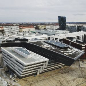 Vienna University of Economics and Business. Great library building by Zaha Hadid.