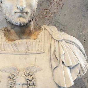 The unknown bearded man (1 face = 2 heads). - #bust #man #sculpture #marble #roman #beard #men...