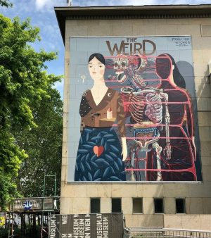 @frauisa + @nychos in Vienna, Austria for the upcoming exhibition
