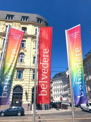 Schön zu sehen: @belvederemuseum setzt ein Signal anlässlich der #EuroPride Vienna 2019. Freue mich wieder auf #DiplomatsforEquality...