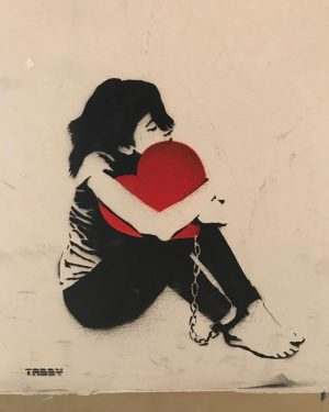 For those who love #girlwithballoon by #Banksy - #girlwithheart by @tabbythis to be seen at @wienmuseum😀 From...