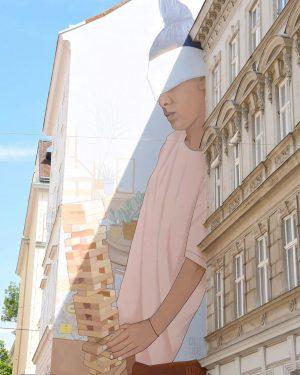 🌸• #facinating #streetart #artwork by @callelibre #vienna #instagood #instadaily