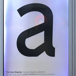 Exhibition: Tria Sans exhibition poster - MQ-poster series of 35 exhibition posters, each ...