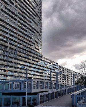 #architecture #city #vienna #tb #rhythm #block #sky #clouds #overcast #perspective #grey #housing #concrete ...
