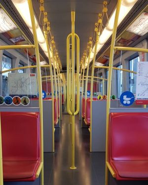 This picture was taken in a metro of vienna, a Siemens U-type designed ...