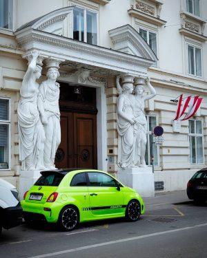 🤘 . . . ______________ #abarth #welovevienna #austria🇦🇹 #austria #fiat500abarth #green #vienna_austria #abarth500 ...