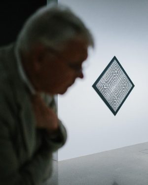 "WARNING: some of the artworks on display in the exhibition ""Vertigo. Op Art and a History of..."