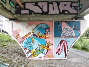 Donaukanal / Muthgasse 52, 1190 Artist: @ndzwdz in association with @ouilife www.viennamurals.at Book ...