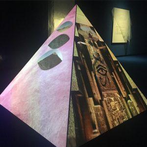 "#zabitarezaire ""Ultrawet Recapitalization"" #2017 #11min18sec #pyramid #projection #kunsthallewien #mq"