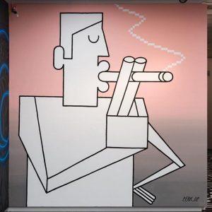 """Ein Raucher im Museum! 🙈 Das geht nur auf der Wand von @perk_up. Zu sehen bei """"Takeover..."""