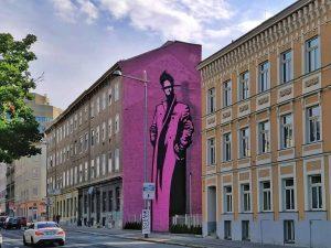 Hernalser Gürtel 13, 1170 Artist: @golifgolif www.viennamurals.at Book / Online Map / Blog #mural #murals #viennamurals #streetartguidevienna...