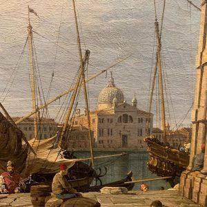Punta della Dogana by Canaletto, 1724/30.