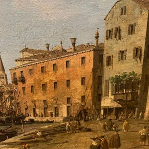 Riva degli Schiavoni by Canaletto. No hotels. No tourists.