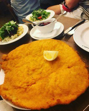 When in Vienna, it's Schnitzel time!!! #schnitzel #vienna