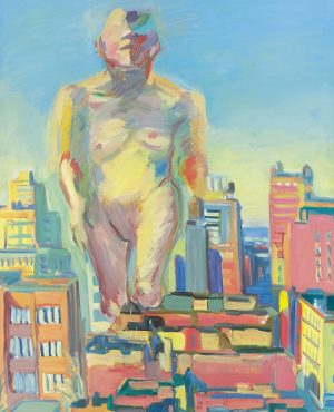 This painting is called #WomanPower and was created by the power woman and genius Austrian artist #MariaLassnig....