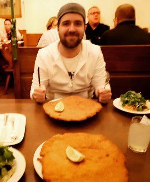 Let's go eat some Schnitzel he said... #bestschnitzel #vienna