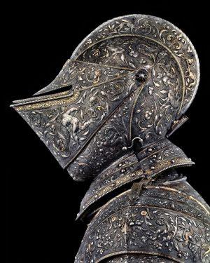 Hercules Armor Owner: Prince Maximilian, later Emperor Maximilian II of Austria. Design: Etienne Delon (1518-1582). Goldsmith: Eliseus...