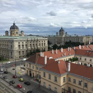 This one goes to our neighbours @mqwien 💜 enjoy the view from our rooftop apartment onto the...