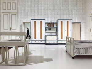 Room interior by Josef Hoffmann in Leopold Museum, Vienna