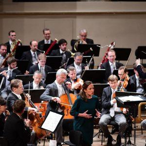 Schulkonzert mit den Wiener Philharmoniker, Daniel Harding und der Sopranistin Christiane Karg. 🎶😎 credit: @igorripakphotography @djharding75 @viennaphilharmonic...