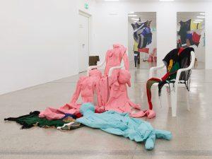 For her exhibition Unruhe [Unrest], Alexandra Bircken has developed numerous new works that ...