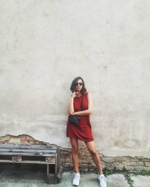 #girl #reddress #vienna #outfit #vsco