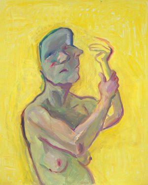 Maria Lassnig, Die gelbe Hand, 2000, Öl auf Leinwand | Maria Lassnig Stiftung © Maria Lassnig Stiftung...