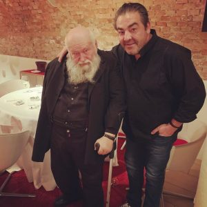 Great Artist & Foodlover! The one and only Hermann Nitsch is in the house. A big honor...