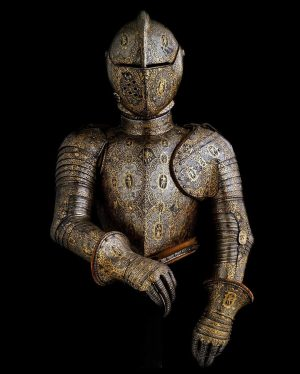 Foot tournament half armor. 1600. Owner: Emperor Ferdinand II Von Hapsburg. Goldsmith: I.O. ...