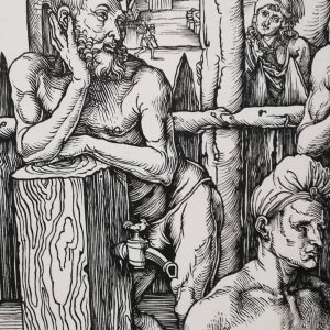 So will Instagram censor this #dickpic? #albrechtdürer @albertinamuseum #woodcut #mensbath