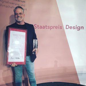 Wie großartig! Haben vor ein paar Stunden den österreichischen Staatspreis Design 2019 erhalten. Für die Grüne Erde...