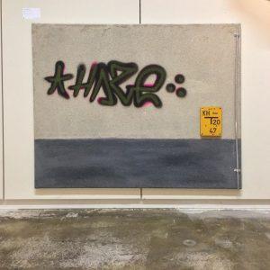 Wiener Tristesse feat. HAZE, Mixed Media auf Leinwand, 2018.