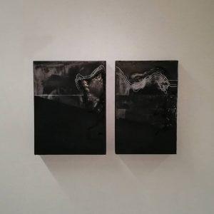 Werke von SOPHIE DVOŘÁK, @_sophiedvorak_: Untitled (Erosion) (2-teilig) 2018 / 2019, 19,5x29x3 cm, ...