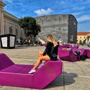 Day 6💜. Museum Quarter of Vienna. . . . . . . #art #modernart #modernartvienna #museum #mumok...