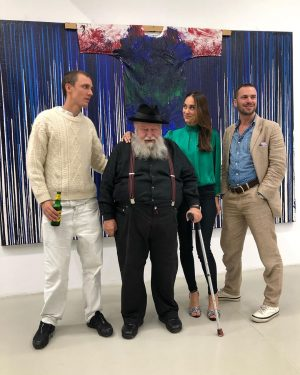 It was a great pleasure having Hermann Nitsch and Ed Fornieles over for such an interesting Artist...