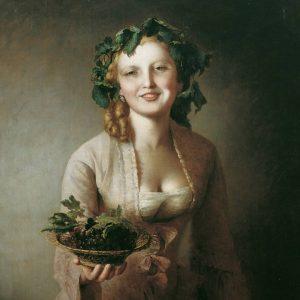 #Вена #ГалереяБельведер #ИоганнБаптистРайтер -Лекси с виноградом - Автопортрет в возрасте 60 лет, 1873 -Дама в голубом платье,...