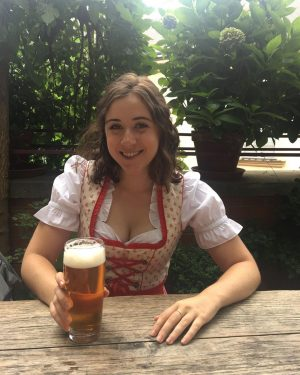 """Here's another picture of me smiling and drinking beer. The New York Times called it """"Absolutely the..."""